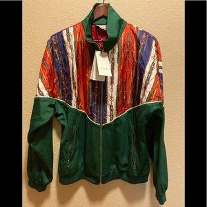 New Authentic Gucci Horsebit Logo Zipper Jacket M